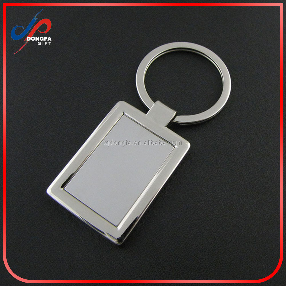 Custom LOGO cheap metal black keyring gun color sheet name sublimation blank keychain