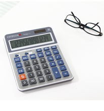 Desktop Big Blue Calculator Solar Dual Power 14-bit Large Display Calculator for Office,Accountant