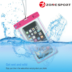 2016 china supplier direct sell customized sealed cell phone for iphone 6 waterproof bag