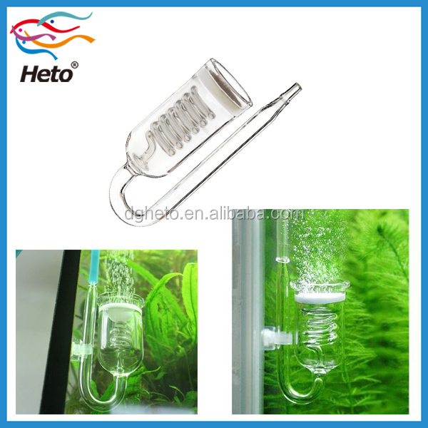 Nano Glass Aquarium CO2 Diffuser for Plant Fish Tank with Suction Cup