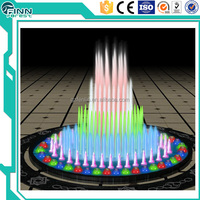 Music dancing for water decoration10m, 12m high jet dry fountain square fountain