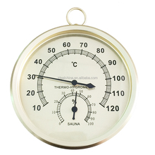 Metal case Sauna Room Thermometer and hygrometer
