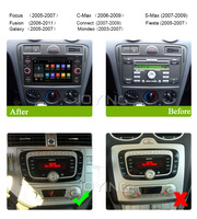 7''Full touch screen car navigator multimedia system 2din android car dvd player with Radio GPS