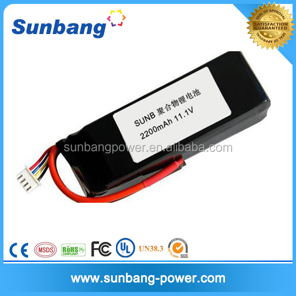 Custom High Discharge Rate Lithium Polymer lipo 11.1 20c battery for Quadricopter