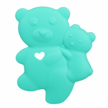 Bear Natural Rubber Baby Teether Teething Toys Bpa Free