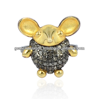 Latest Designer Genuine Diamond Studded Mice Mid Rings Wholesale Handmade Jewelry