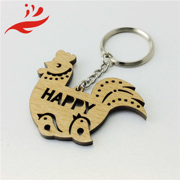 Wooden House Shaped Key Holder for car keychain