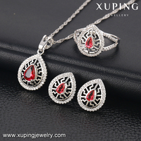 63833 Xuping Fashion Jewelry Wholesale China, Elegant Jewelry Gold Plated Earring And Ring Sets