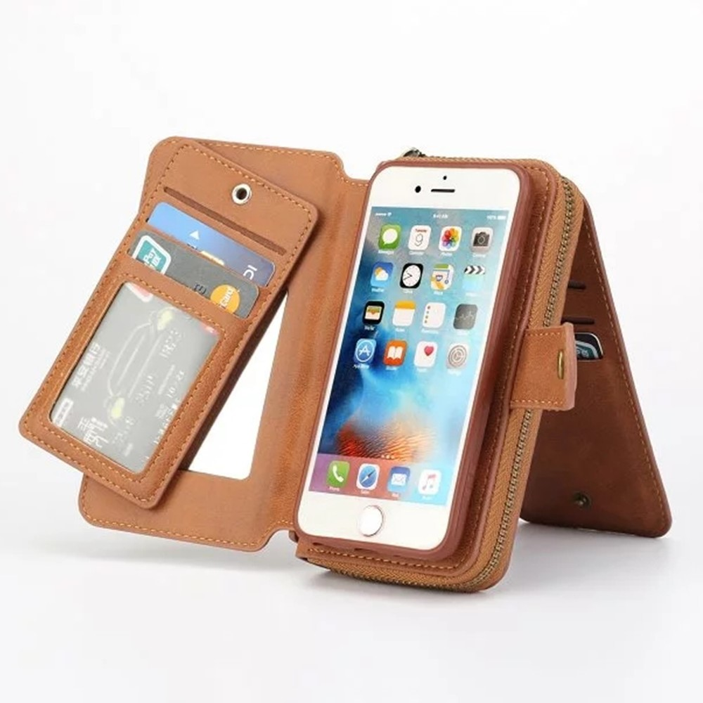 new products 2016 luxury pu leather wallet bag cell phone case for apple iphone for iphone 6 case With lanyard Flip