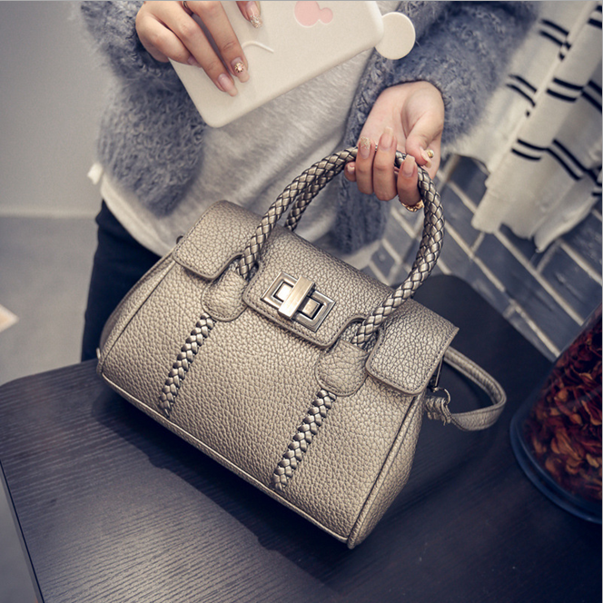 W72132G korea wholesale leather latest fashion bag ladies handbag 2016 for women