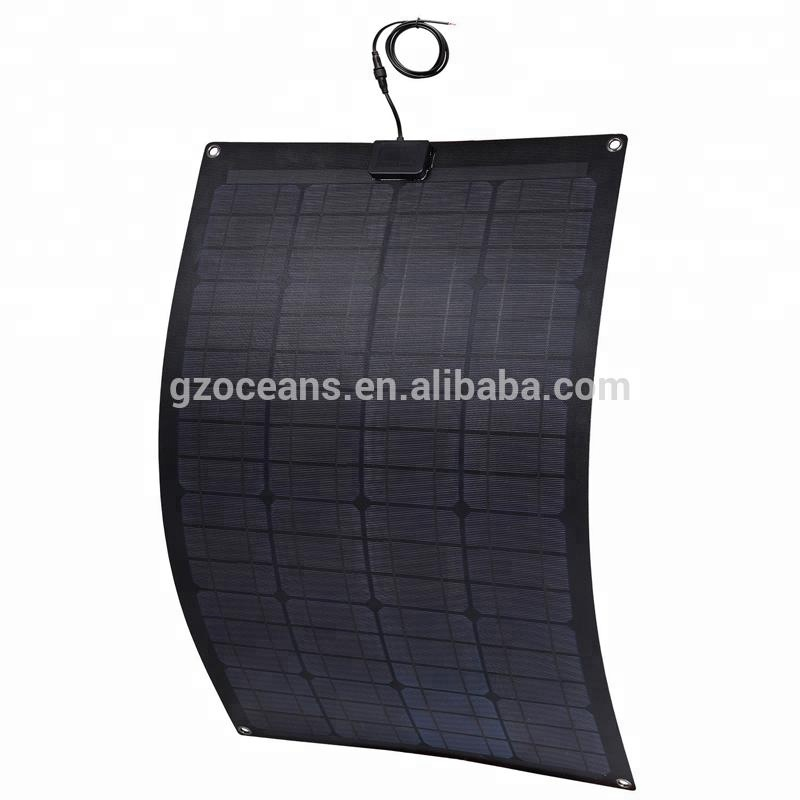 Bendable solar panel rechargeable solar battery 20W to 90W 18V charging 12 battery