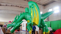 inflatable dragon green
