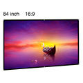 84inch projector screen 16:9 aspect ratio matte white