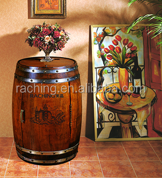 Wood Wine Barrel Refrigerator, Electric Barrel Cooler, Wine Barrel With Wind Cooling