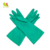 Green best selling in protective rubber latex industrial gloves with cotton material inside