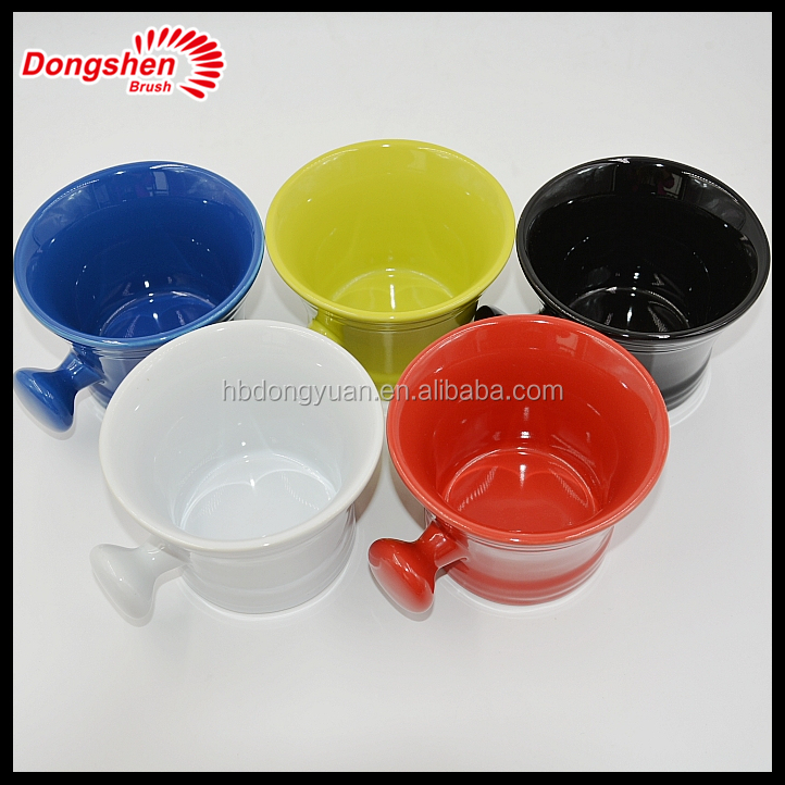 Wholesale Custom Porcelain Ceramic soap mug , Ceramics Shaving Soap Bowl With Handle