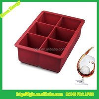 New Design Personalized Square Silicone Ice Cube Tray With Lid