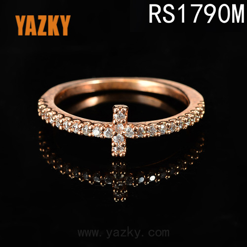 24k rose gold ring Jesus ring 24k solid rose gold ring