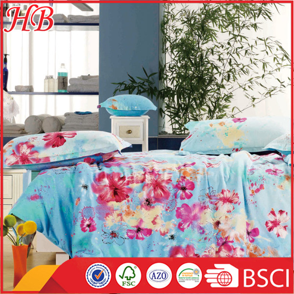 100% Polyester microfiber printed bedding set, home used bedding set,cheap price bedding set