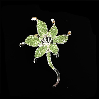 fancy costume wholesale rhinestone crystal flower brooch for wedding garment