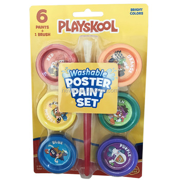 6ct Poster Watercolor Paint Set with 1pc Brush