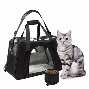 Soft sided airline approved cat carrier pet sling carrier pet carrier purse