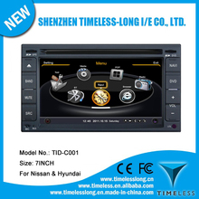 2 Din Car DVD FOR Nissan FRONTIER before 2008 with built-in GPS A8 chipset RDS BT 3G/Wifi DSP Radio 20 dics momery(TID-C001)