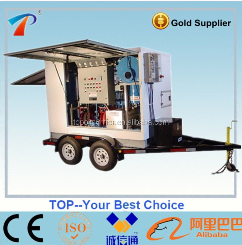 Mobile Dielectric Oil Purifier | On Site Transformer Oil Filtration Plant, Oil Purifiication System ZYB-200