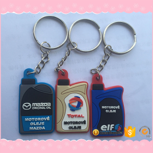 Custom made 2D 3D cartoon custom soft pvc keychain