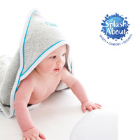 Hot Sale vendor Naturally Splash About Bamboo Charcoal cotton bacterial protection taiwan Apres Splash Hooded Towel