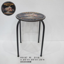 Cheap metal bar custom printing round stools