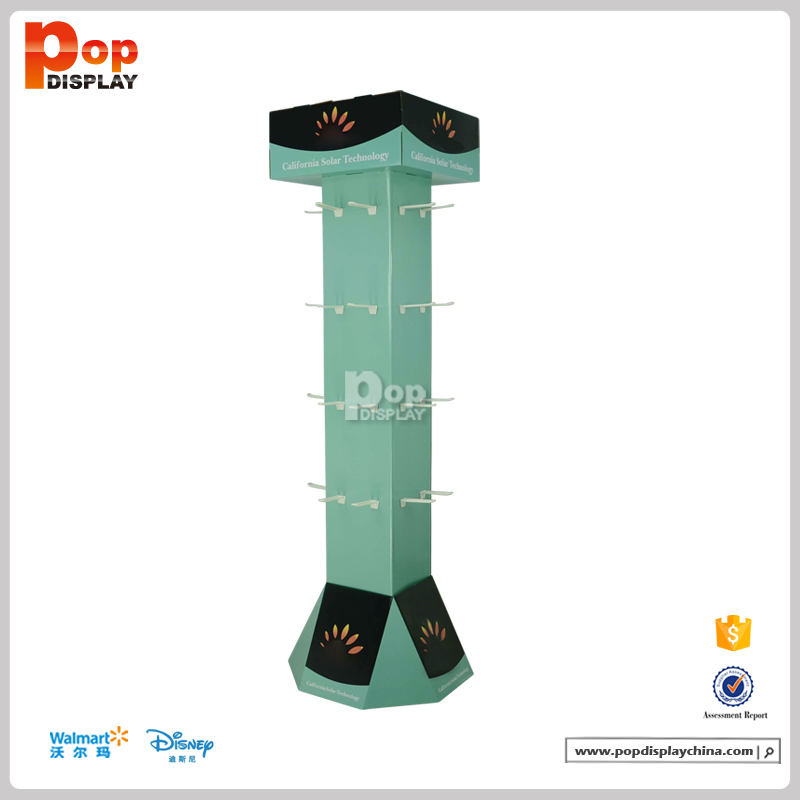 solar power rotating floor display stand,rotating display stand