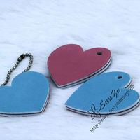 keyring nail file with heart shape