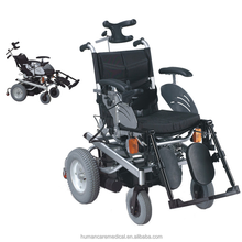 multi-function luxtury and comfortable recline and stand up aluminum eletric wheelchair