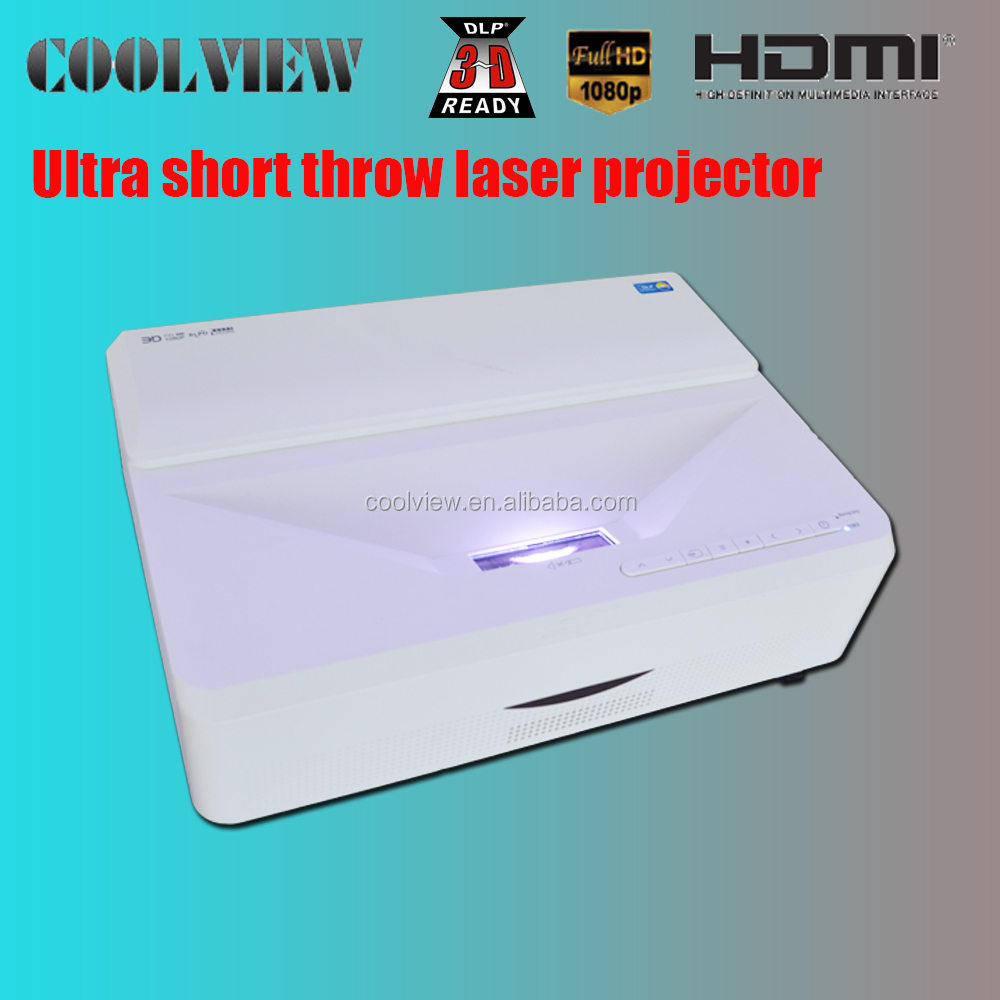 full hd ultra short throw android 3d laser professional to cinema theatre 4k projector