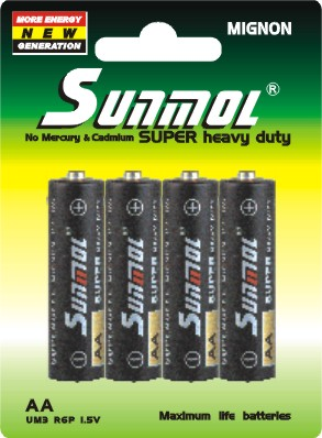 carbon zinc primary dry battery cell