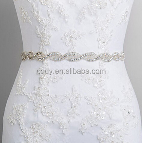 2015 wedding dress sash rhinestone belt for wedding dress