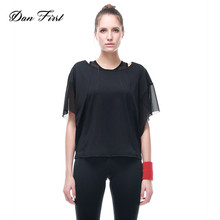 2017 New Design Shirts Casual Girl Workout Shirts Women Gym Top Quality Women Exercise Clothes