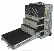 Heavy Duty Rolling Aluminum Tool Case with Drawers