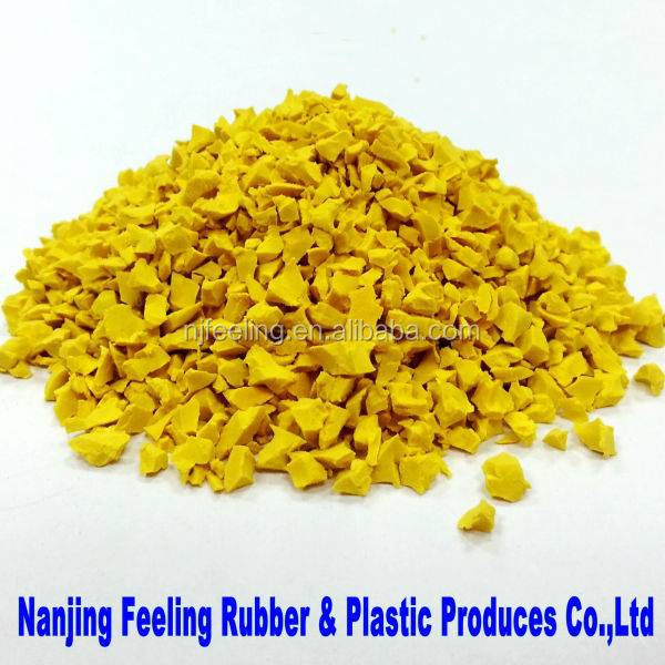 Colored EPDM Rubber Granules - 03 Light Yellow- FLY01