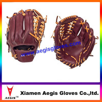 Profession leather Baseball Gloves brown leather Baseball Gloves Supplier