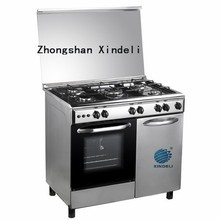 Stainless steel worktop oven with gas bottle compartment