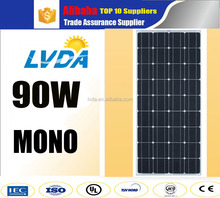 LVDA import-export factory sale mono 80w 90w mono solar panel pv made in China