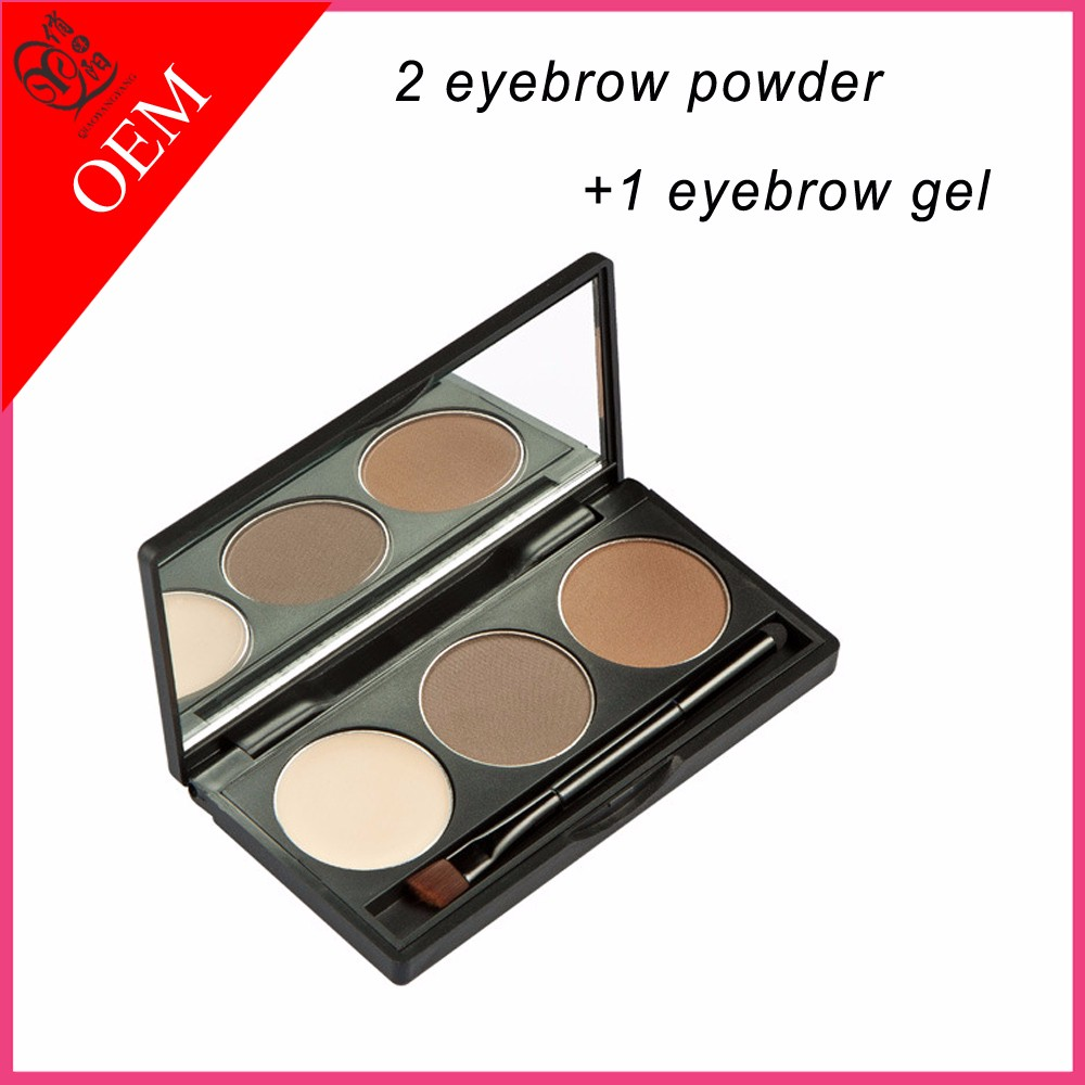OEM Private label Eyebrow powder eyebrow gel with brush makeup kit