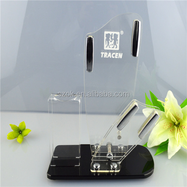 Factory price perfect quality clear acrylic knife display stand
