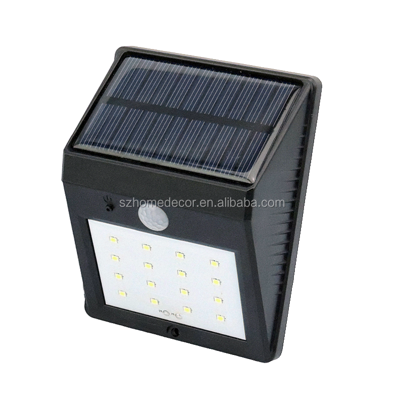 New Arrival 16 LED Solar outdoor wall lamps garden lighting LED Flood Security Garden Light with Motion Sensor Solar Lamp