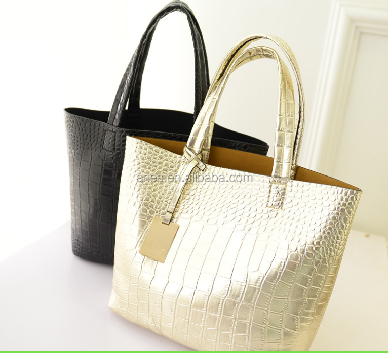 new 2015 Selling Women PU Leather Handbag,Tote Shoulder Bags large capacity PU weave bags fashion design