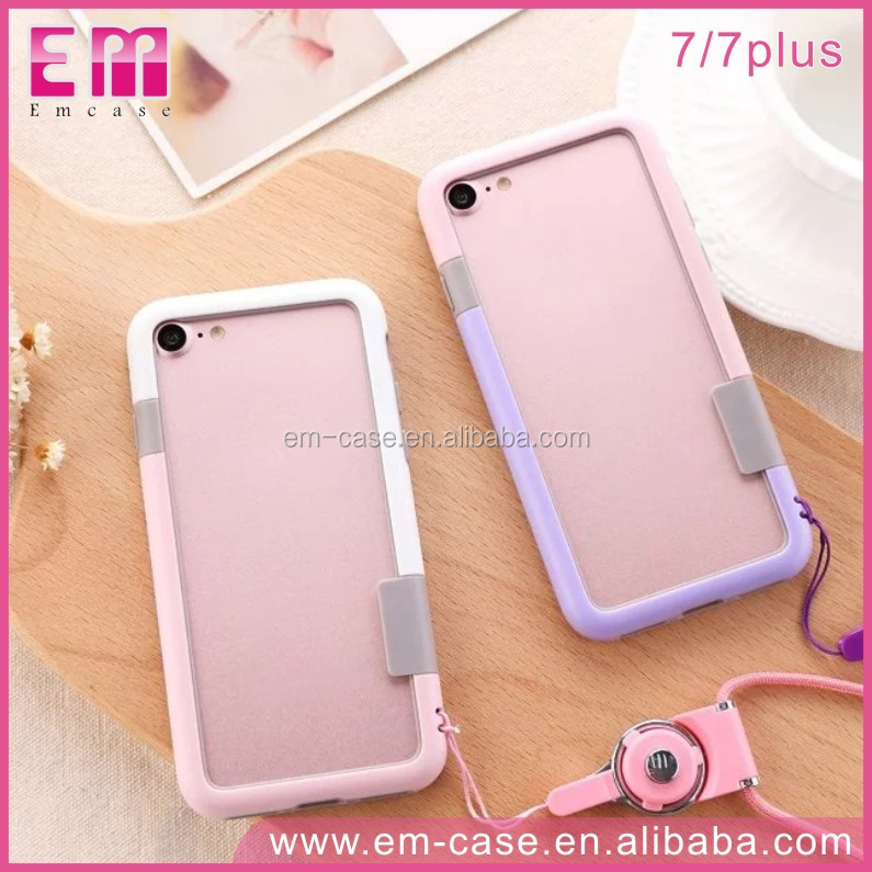 For iPhone7 Three Colors Edge PC Cell Phone Case Colorful Edge Phone Case
