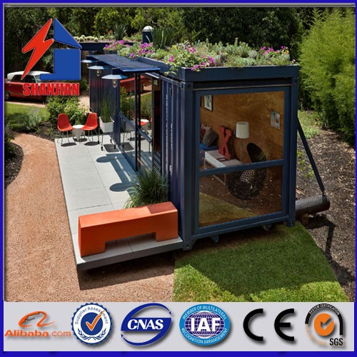 Prefab shipping living container home/Carport/coffee room/ movable container home