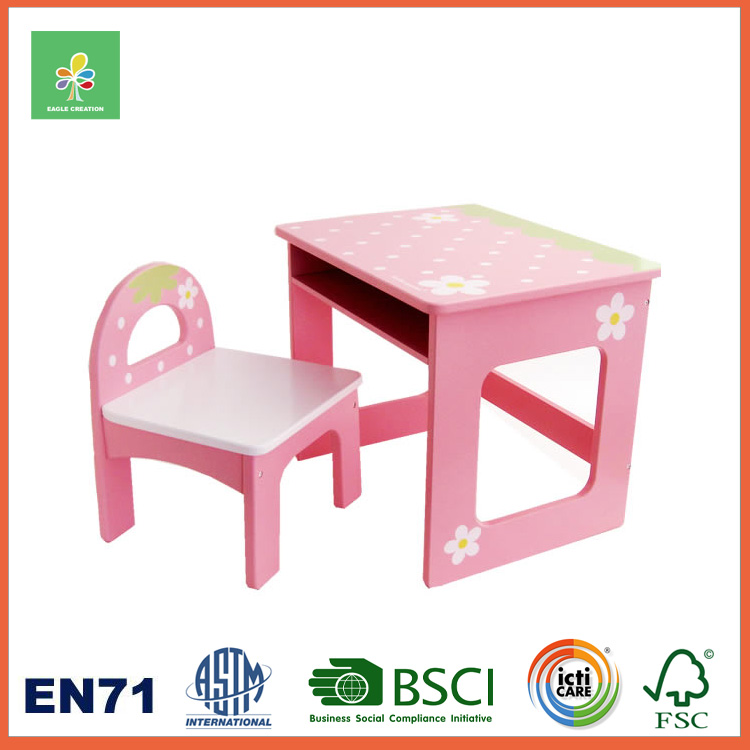 Wooden Children and Kids Table and Chairs Set, Kids Learning Toy Furniture